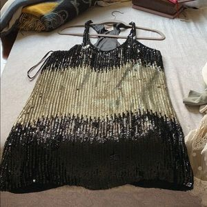 Black and silver Parker sequin dress sz M